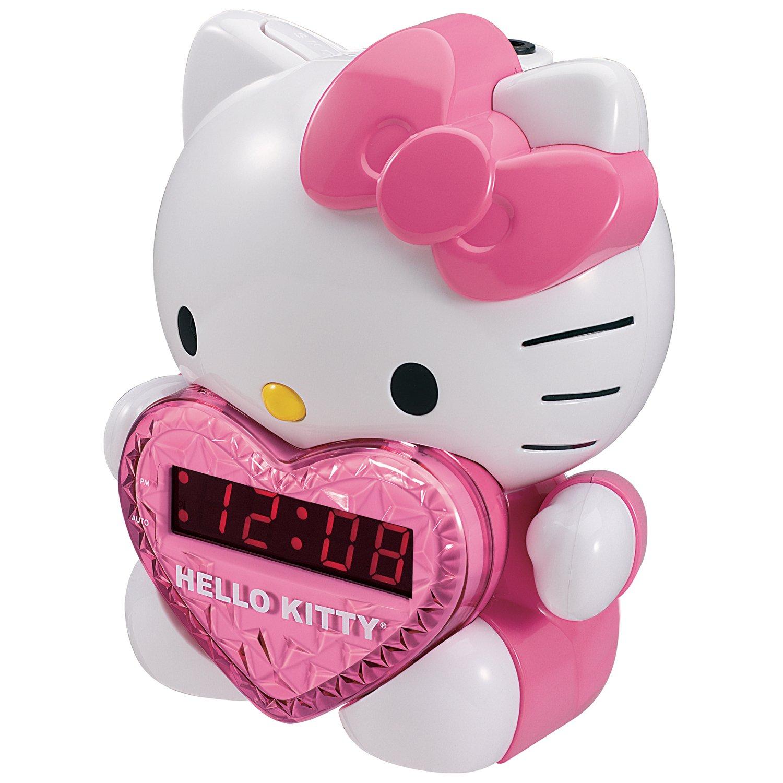 Amazon.com: HKT2064   HELLO KITTY KT2064 AM FM Projection Alarm Clock  Radio: Home U0026 Kitchen