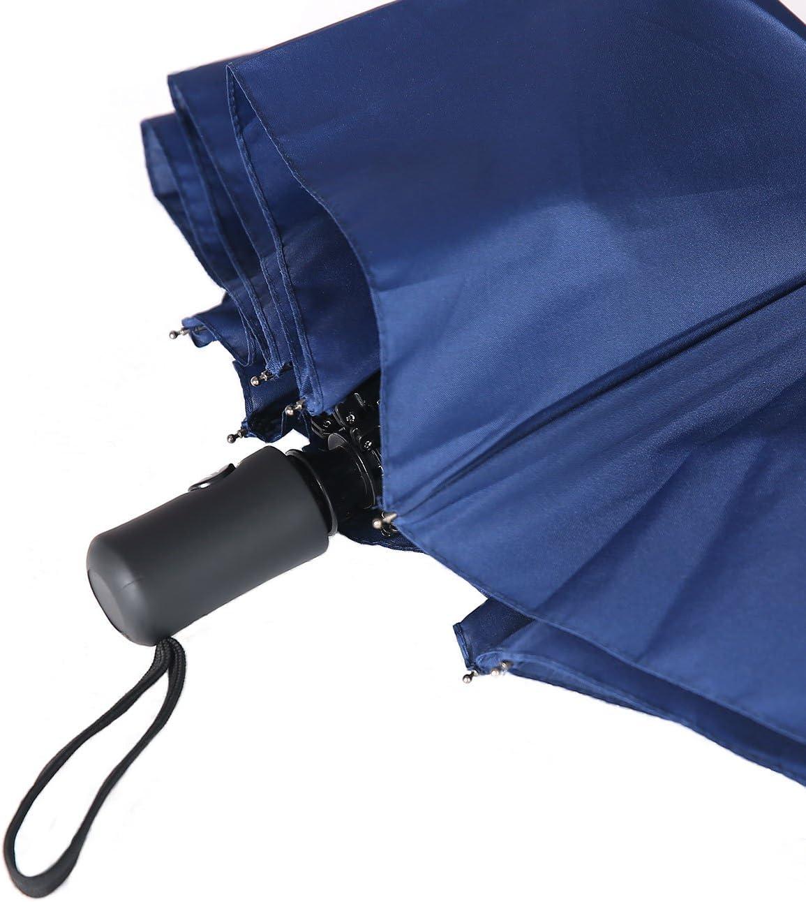 Windproof Compact Light Weight Travel Automatic Open//Close Triple Fold Umbrella