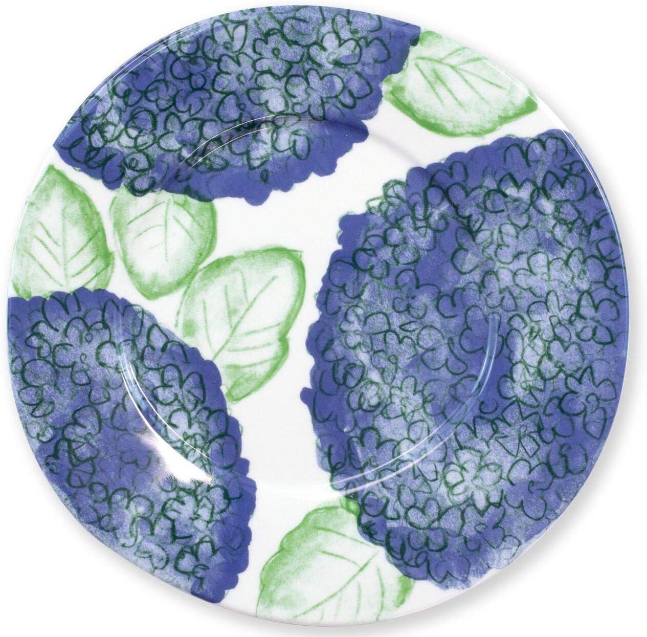 Vietri Melamine Hydrangea Dinner Plate - Premium Italian Tableware