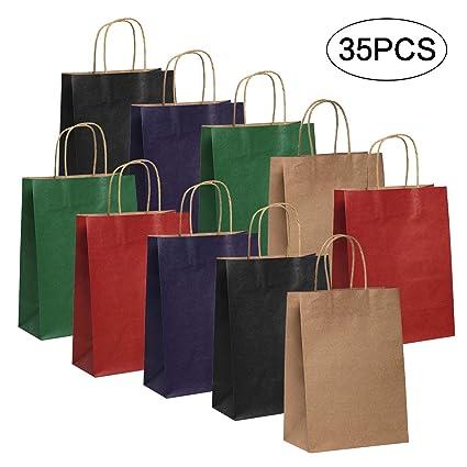 Bolsas de papel Kraft de 35 piezas Bolsa de regalo para ...