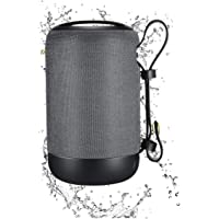 TERSELY Portable Bluetooth Wireless Music Speaker, IPX5 Shockproof Waterproof with 12 Hour Playtime, Built-in MIC, TWS for iPhone iPad Samsung Android Travel Beach Shower [U Disk/FM Function] - Grey