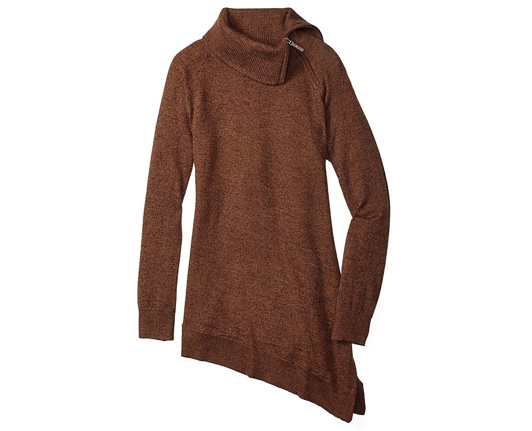 Smartwool Women's Cascade Valley Asymmetric Tunic (Cardamom Heather) Large