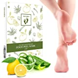Neomen 2 Pair Foot Peel Mask,Exfoliating Calluses and Dead Skin Remover, Baby Your Feet Naturally