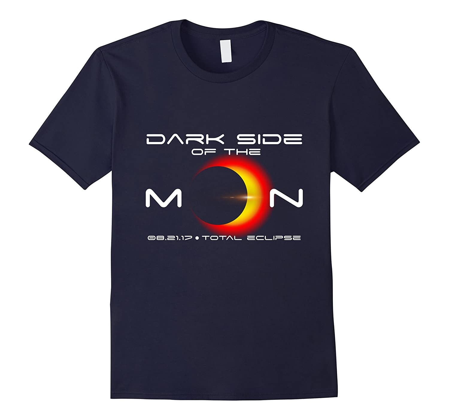 Total Solar Eclipse T Shirt August 21 2017 Dark Side of Moon-BN