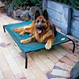 Elevated Indoor/Outdoor Pet Cot for Large Breeds Color: Brunswick Green by Coolaroo