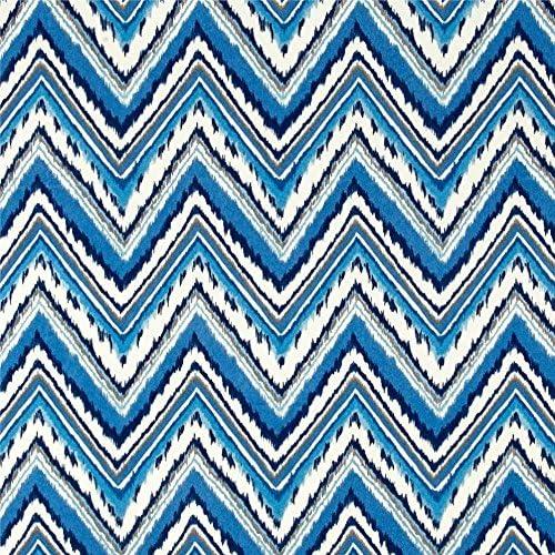 Resort Spa Home Set of 4 Indoor Outdoor Pillows – 17 Square Throw Pillows Rectangle Lumbar Decorative Throw Pillows – Sapphire Blue, Gray, White Charade Chevron