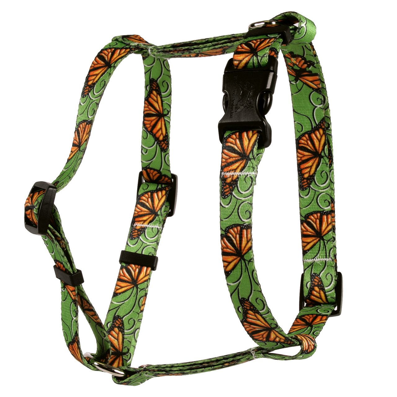Yellow Dog Design Monarch Swirl Roman Style H Dog Harness, Small/Medium-3/4 Wide fits Chest of 14 to 20''