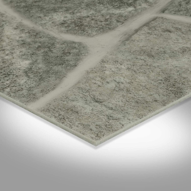 CV PVC-Belag verf/ügbar in der Breite 200 cm /& L/änge 250 cm CV-Boden wird in ben/ötigter Gr/ö/ße als Meterware geliefert /& pflegeleicht PVC Vinyl-Bodenbelag Bruchstein-Optik rot-braun