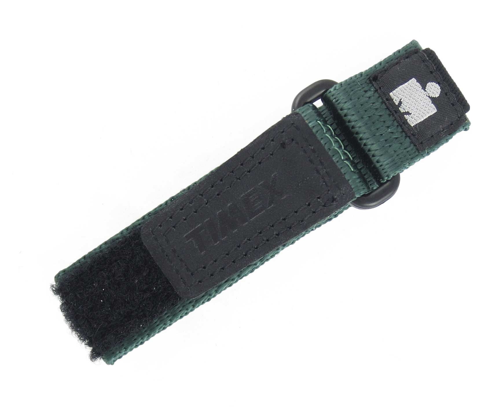 TIMEX Womens 12-16MM Black Green Hook & Loop Nylon Ironman Expedition Fast WRAP Sport Watch Band Strap