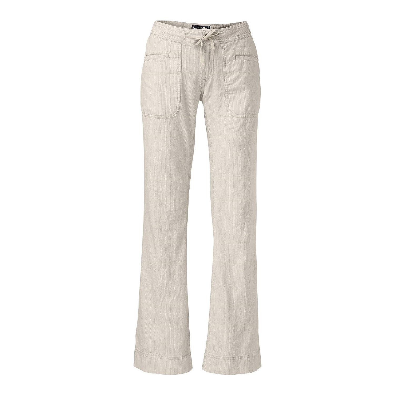 The North Face Women's Larison Linen Pant (10/REG, Dune Beige Stripe)