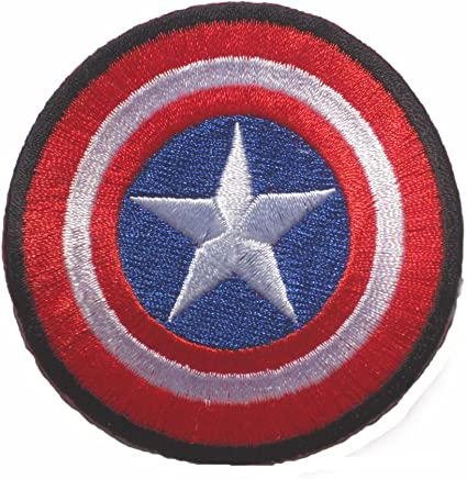 captain america avengers shield LOGO sew iron on Patch Badge Embroidery 7x7cm 3 MV-06 by Happypatch