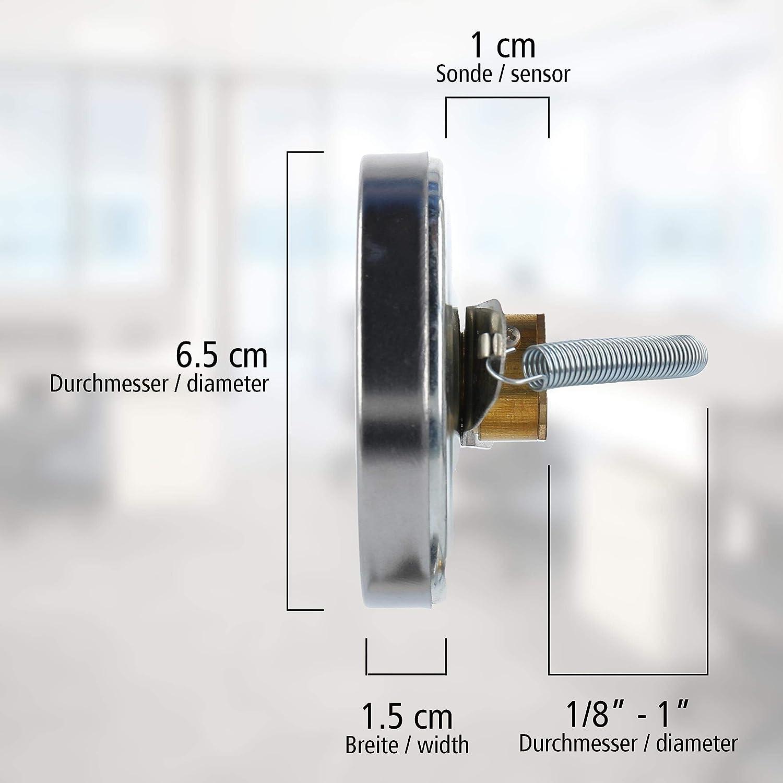 Lantelme Rohr Anlegethermometer mit Feder 0 bis 120 /°C analog Thermometer f/ür Heizung Klima Wasser Rohre 8160