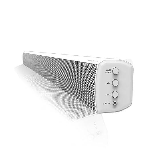 9 opinioni per LONPOO Soundbar Speaker- Sistema Home Cinema 2.0 con Bluetooth- con telecomando