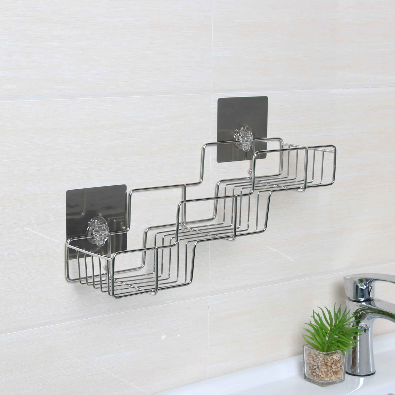 Drill Free and Recyclable 304 Stainless Steel Bathroom Shelf, Vataler Bathroom Shower Rack & Kitchen Organizer Shelf