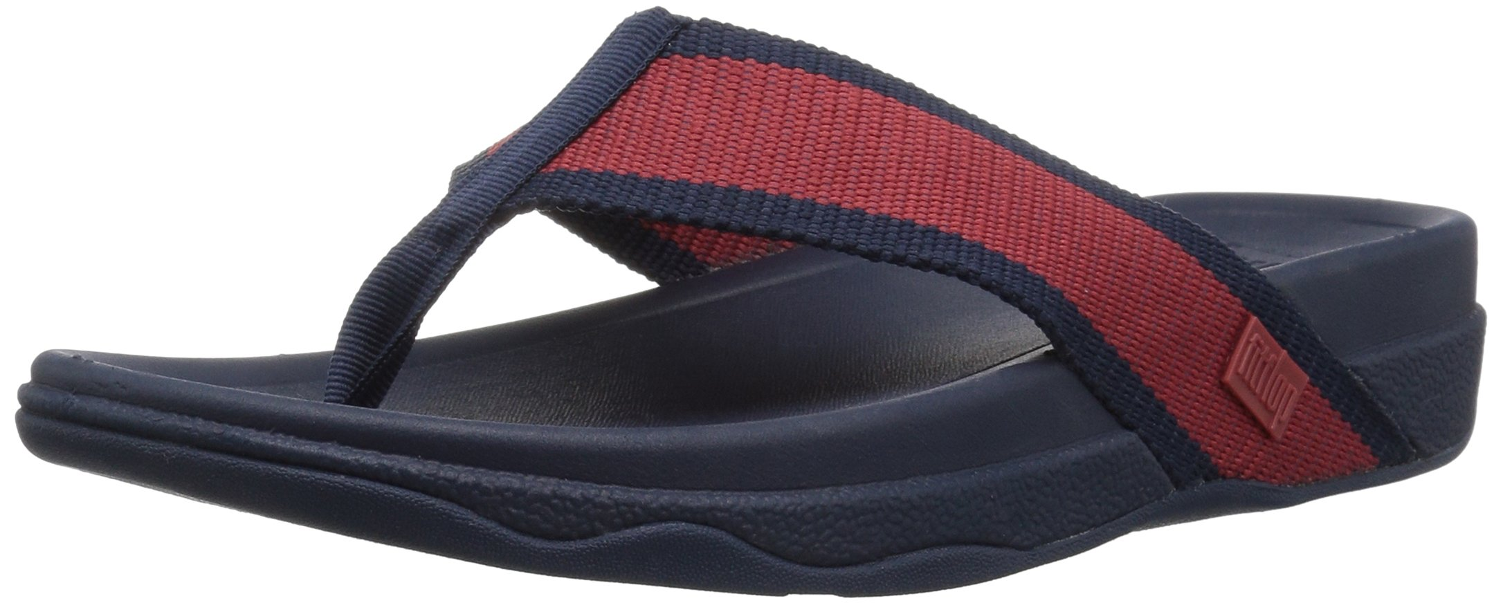 FitFlop Men's Surfer Sandal, Ff Red/Midnight Navy, 8 M US