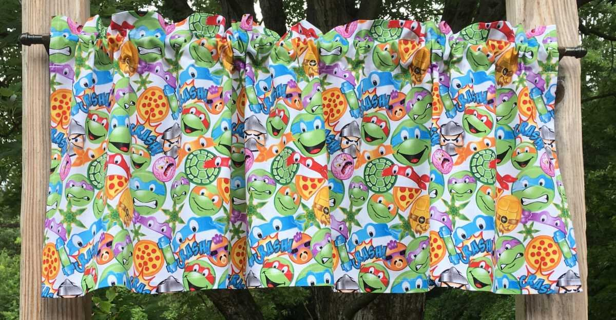 Amazon.com: Boys Handcrafted Curtain Valance Sewn From ...
