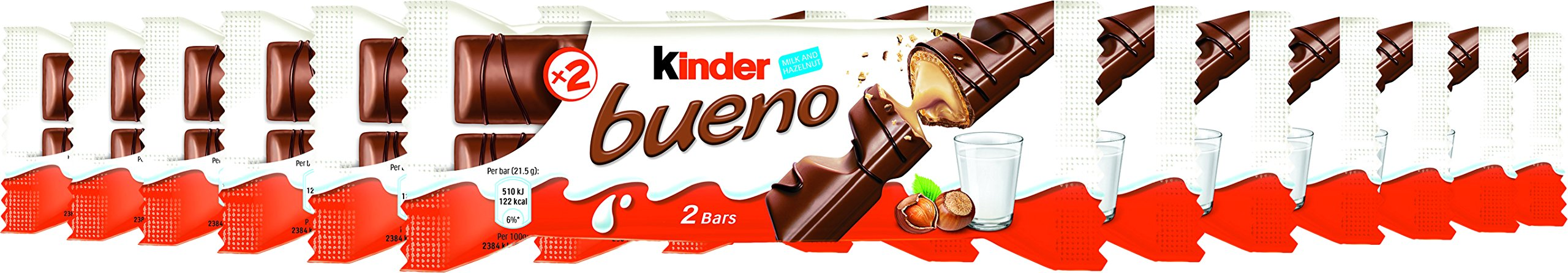 Ferrero Kinder Bueno Wafer Cookies, 1.5 Ounce (43 g) (Pack of 30) by Ferrero (Image #4)