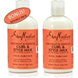 Shea Moisture Coconut & Hibiscus Curl & Style Milk w/ Silk Protein & Neem Oil - Thick Curly Hair - Anti-frizz moisture & Shine - 8 fl oz - Value Double Pack - Qty of 2