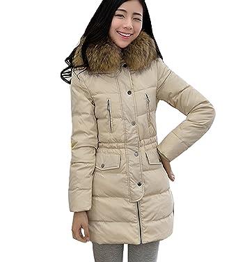 Fur collar jacket beige