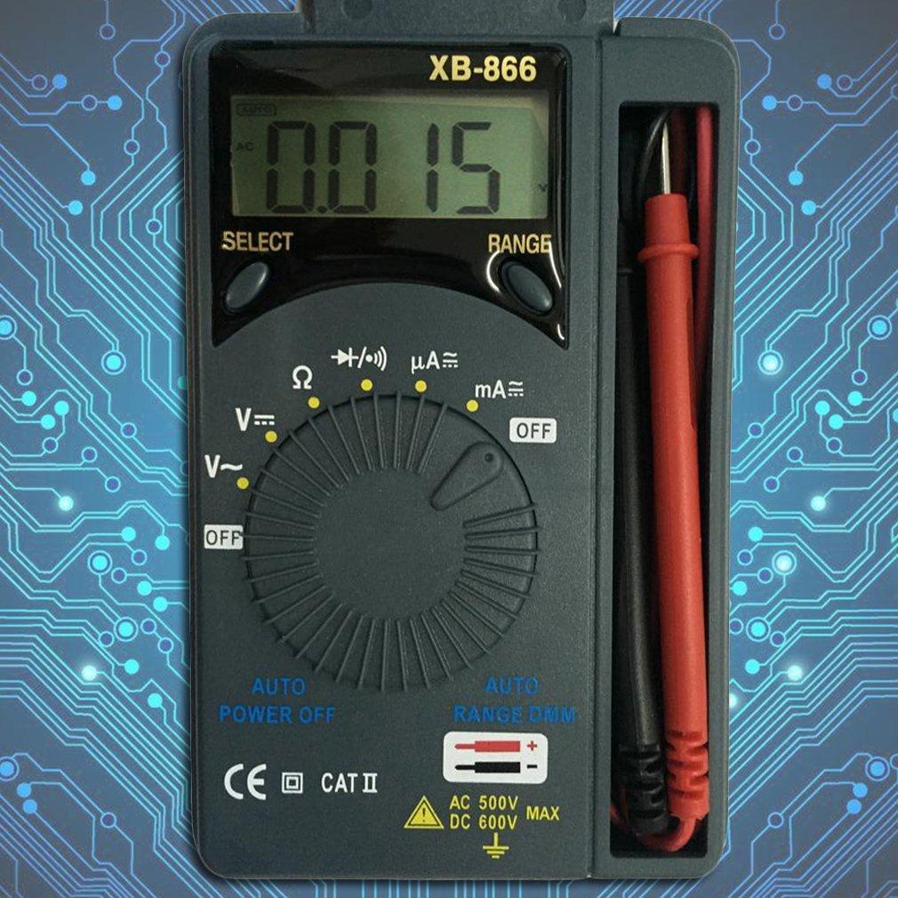 HOBOYER Mini Auto Range AC/DC Digital Multimeter Voltmeter,Auto Range Tester LCD