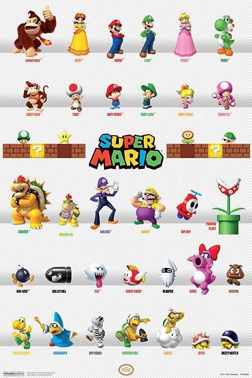 Amazon Com Pyramid America Super Mario Characters Cool Wall Decor