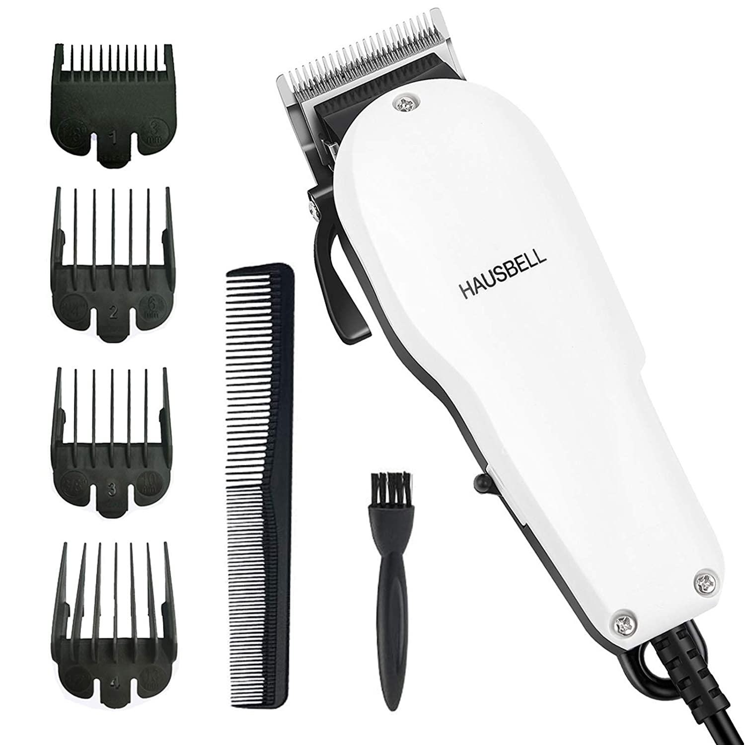 HAUSBELL Hair Clippers, Hair Trimmer, Beard Trimmer for Men, Hair Cutting Kit, Barber Clippers, Grooming Kit for Men, Mustache Trimmers, Clippers Shaver with Long Cord for Head, Face, Beard and Body