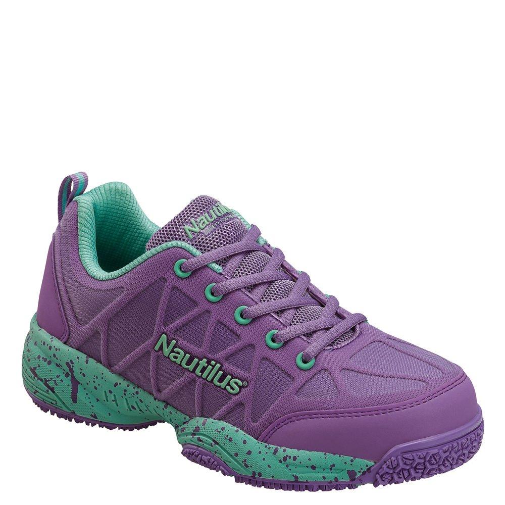 d721f037c26 Nautilus 2154 Women's Comp Toe Light Weight Slip Resistant Safety Toe  Athletic Shoe