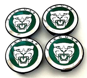 Set de 4 cubiertas para centro de tapacubos de aleación con logotipo de Jaguar en color ...