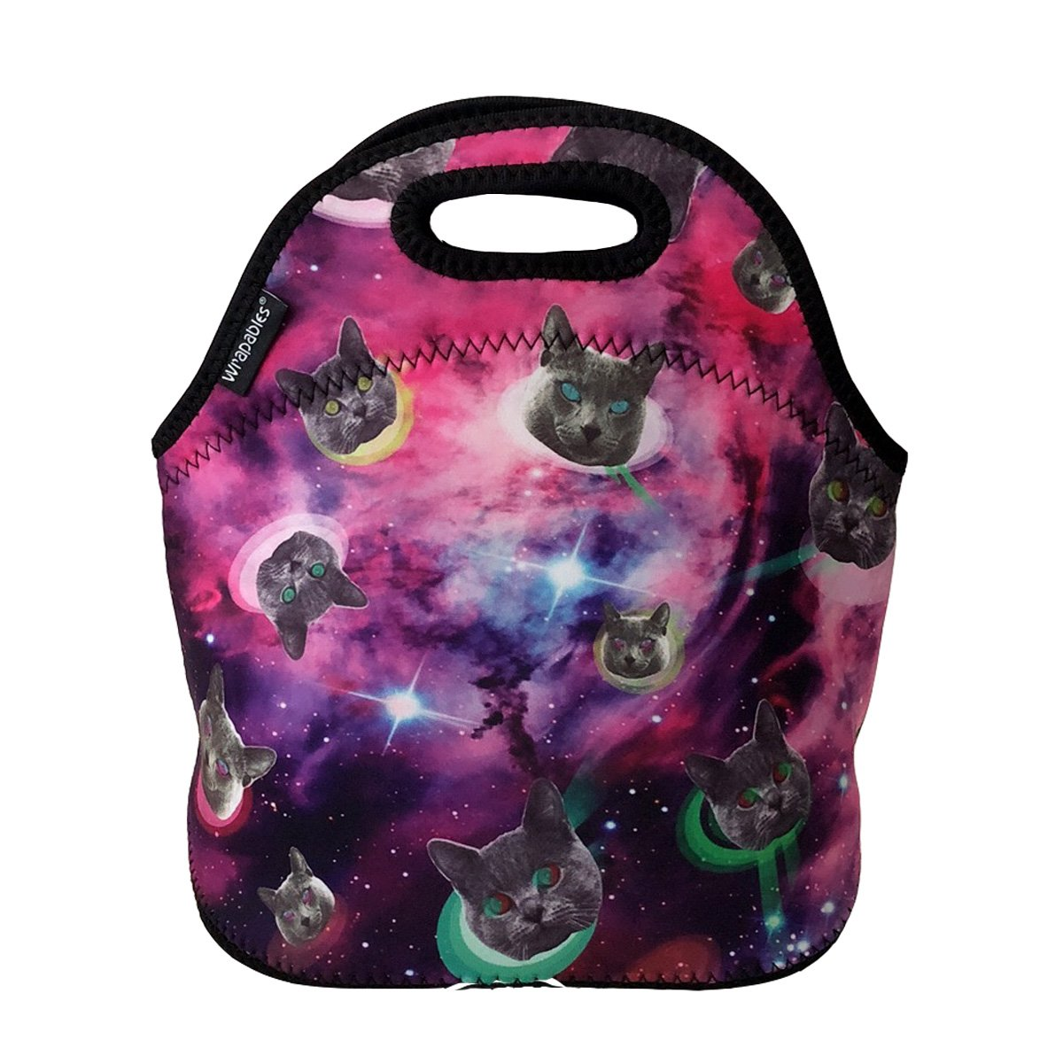 ALLYDREW Insulated Neoprene Lunch Bag Zipper Lunch Box Tote Baby Bottle Bag Owls