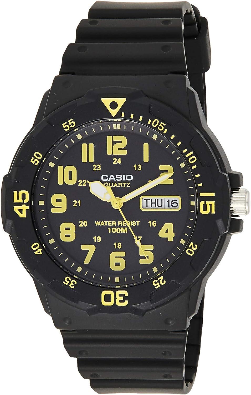 Casio Men s MRW-200H-9BVDF Sports Analog Dive Quartz Black Watch