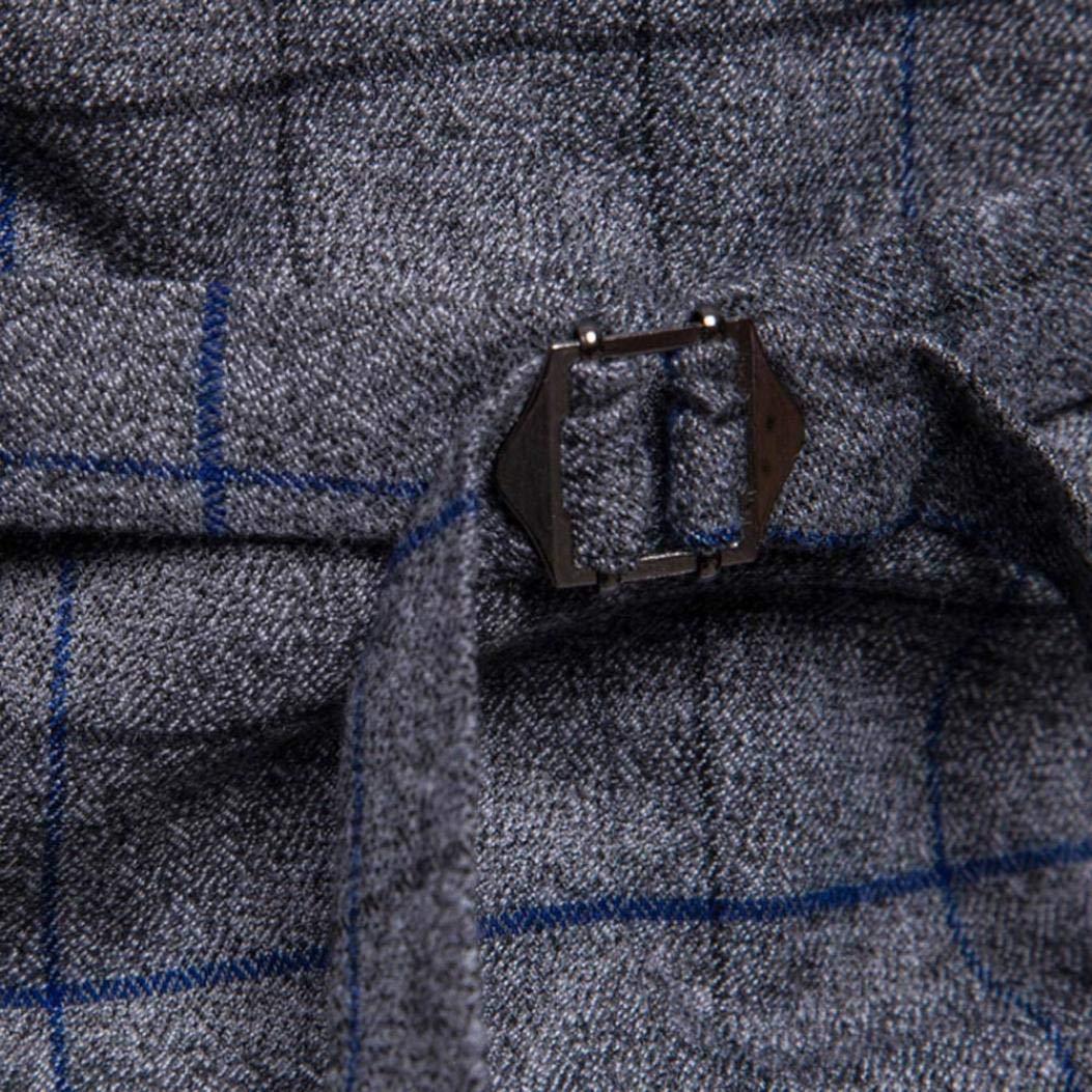 iLXHD Casual Men Plaid Printed Sleeveless Jacket Coat Suit Vest Blouse by iLXHD (Image #5)