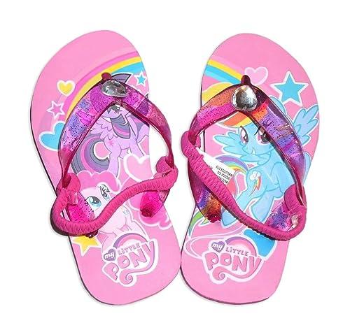 2c510fea0a70 My Little Pony Girl s Pink Beach Flip Flops ...