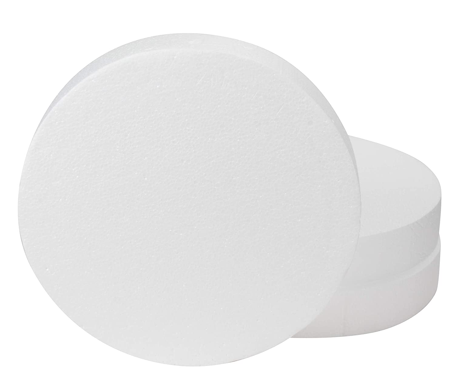 Craft Foam Circle - 9-Pack Polystyrene Foam Disc, Round Foam for Sculpture, Modeling, DIY Arts and Crafts, Kids Class, Floral Arrangement, White, 4 x 4 x 2 Inches Juvale
