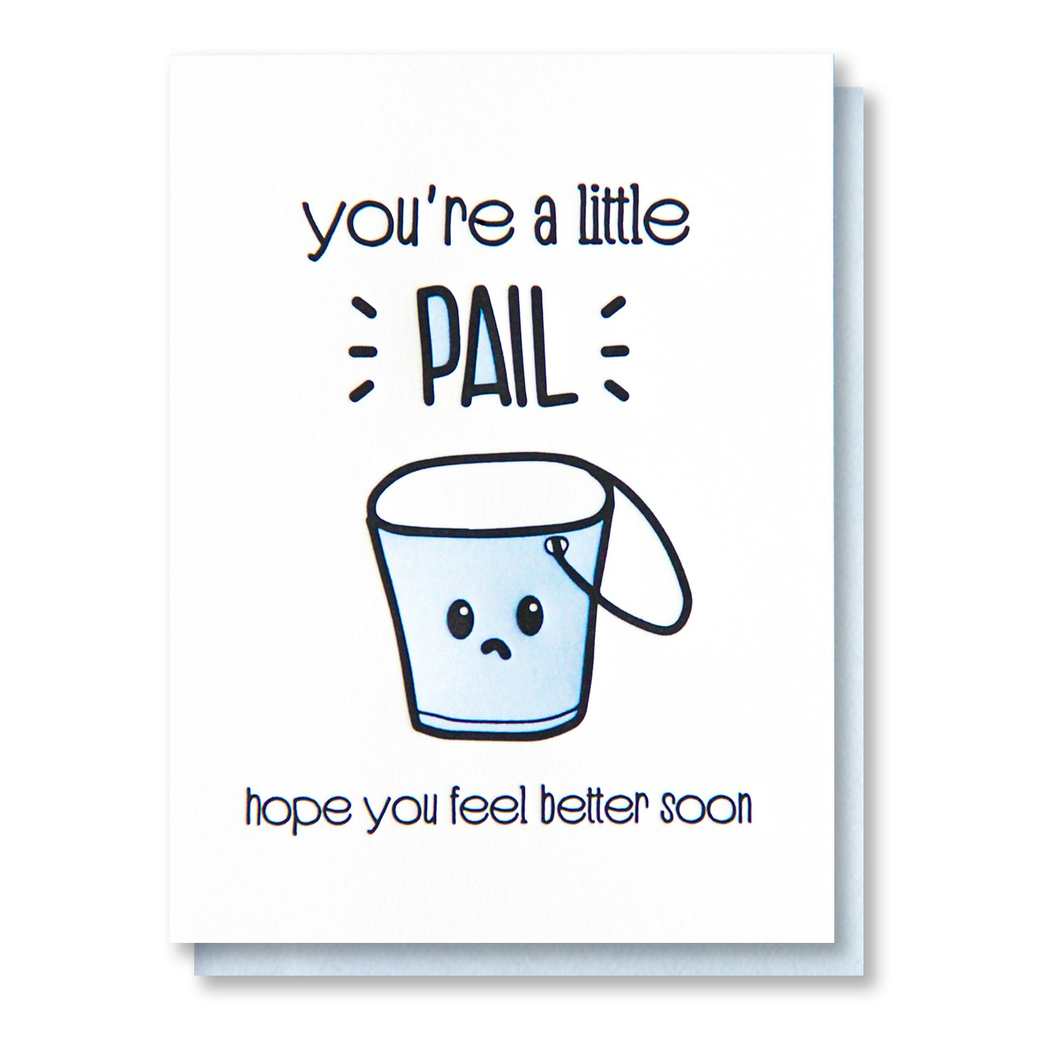Amazon com: Funny Get Well Card | Little Pail Pun