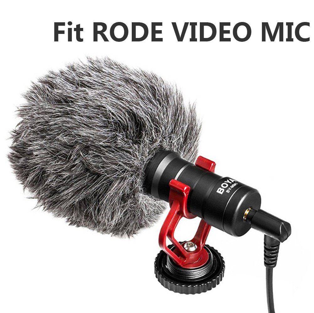 Professional Furry Outdoor Microphone Windscreen Muff Fit for Rode VideoMicro