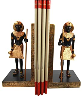 Captivating Atlantic Collectibles Ancient Egyptian Civilization Deity God Guardian  Pharaoh Bookends Figurine Set