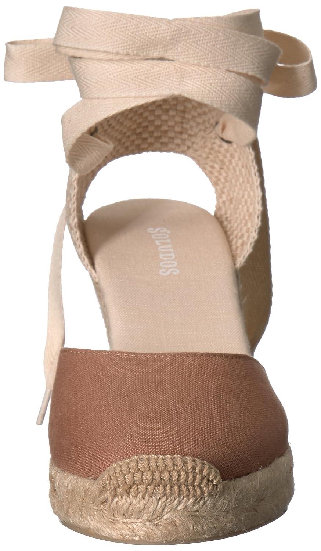 Soludos Women's Tall (90mm) Wedge Sandal B077Y5JCTN 8 B(M) US Nutmeg