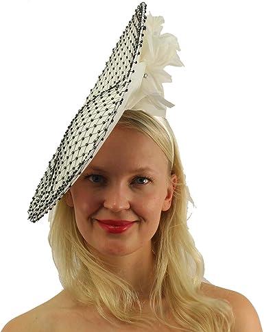 White Headband Hat Kentucky Derby Hat Party Headband Party Hat Women Hat