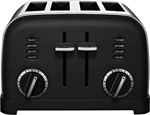 Cuisinart CPT-180MB 4-Slice Metal Classic Toaster, Matte Black