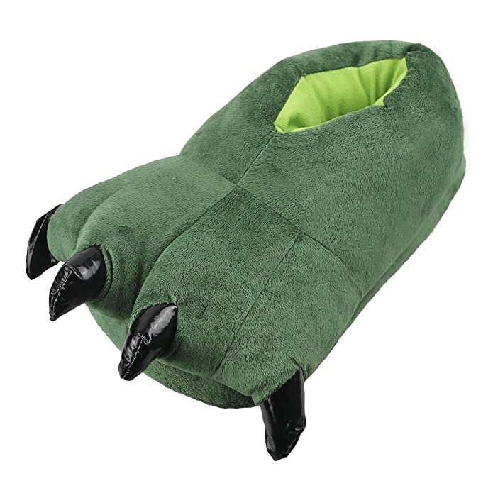dafc517bd43f6 Unisex Adult Soft Home Slippers Fuzzy Party Halloween Animal Costume Claw  Shoes