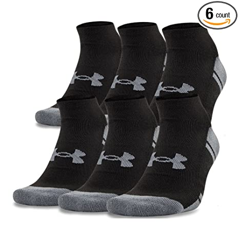 54b410be73aa Under Armour Men's UA Resistor III No Show Socks 6-Pack