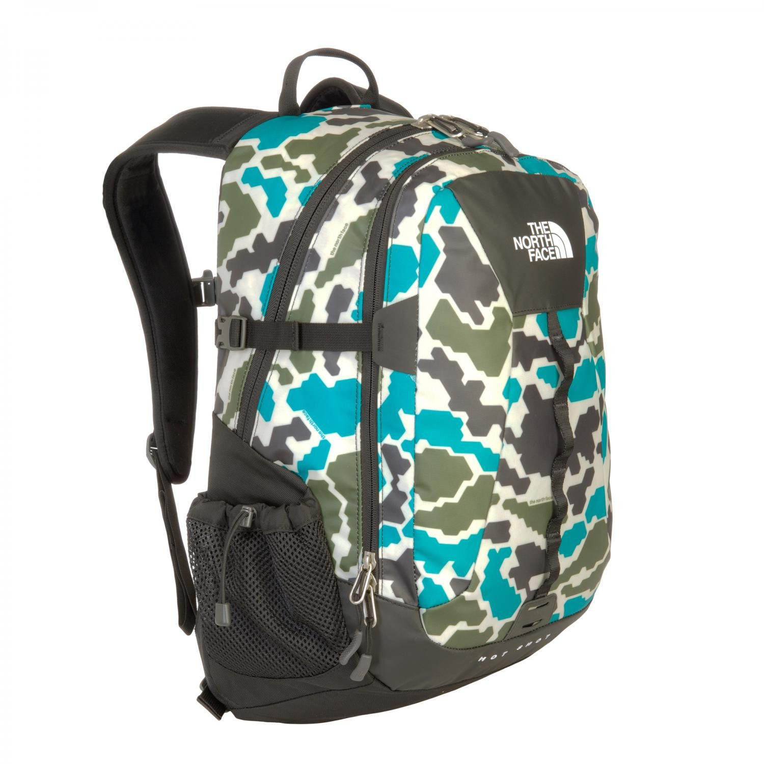 f41cd1098 The North Face Base Camp Hot Shot Daypack - Jaiden Green Duckmo Print, One  Size: Amazon.co.uk: Sports & Outdoors