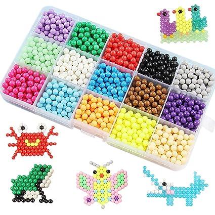 Amazon com: HTOYES Water Spray Beads Set - 15 Colors 2200pcs
