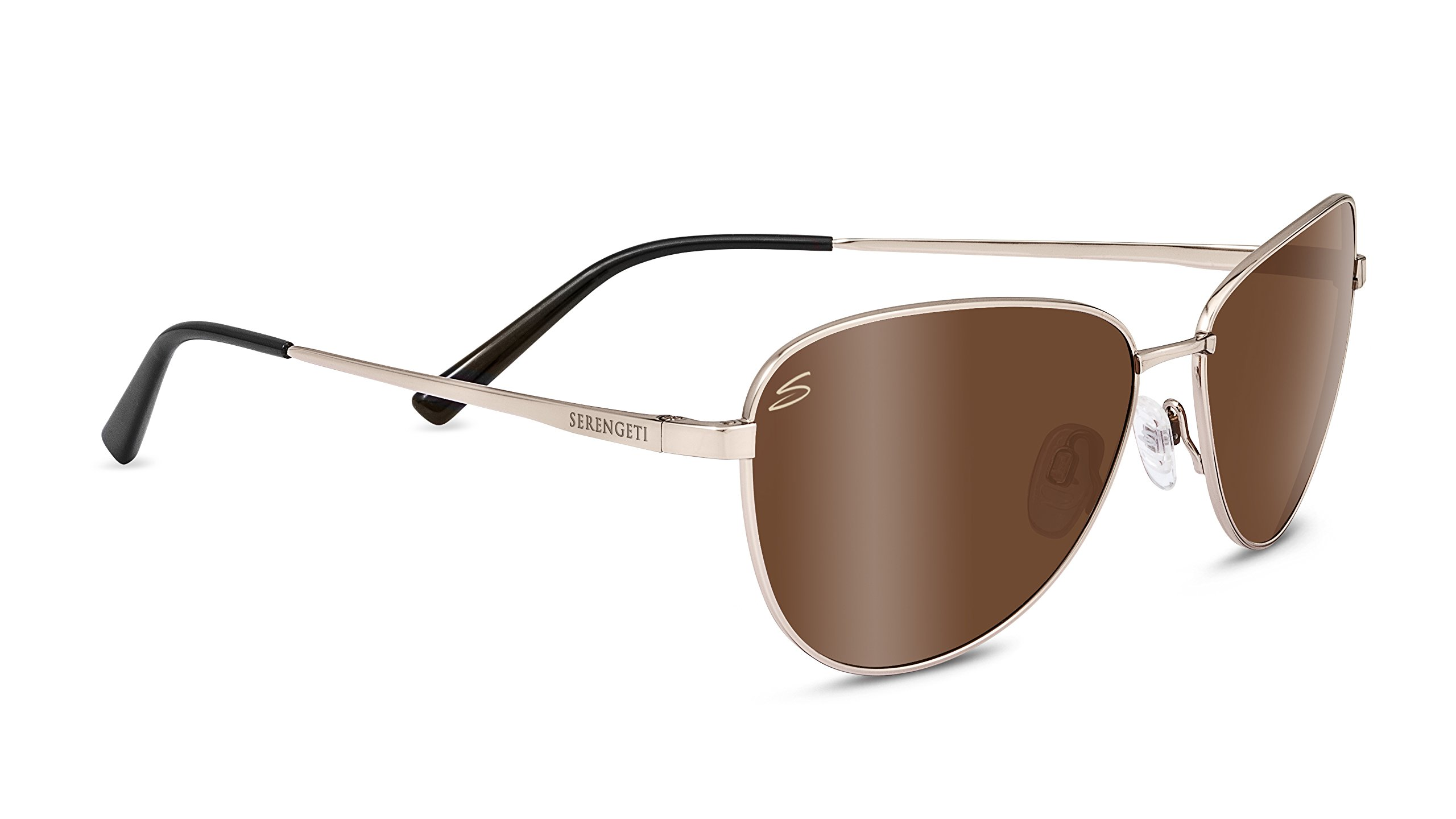 Serengeti 8411 Gloria Polarized Drivers Sunglasses, Soft Satin Gold