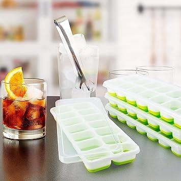 Hemore - Molde de silicona para cubitos de hielo para whisky, cóctel, bebidas o dulces, pudín, gelatina, leche, zumo, chocolate 18: Amazon.es: Hogar