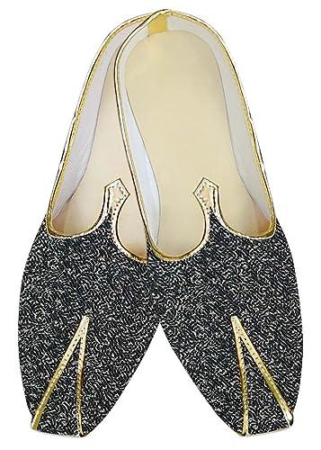 Mens Denim Blue Jute Polyester Wedding Shoes MJ015377