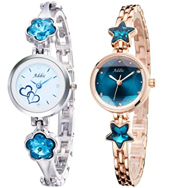 83f564db0 Buy Addic Analogue White and Blue Dial Lovely Women s Watch -Combo ...