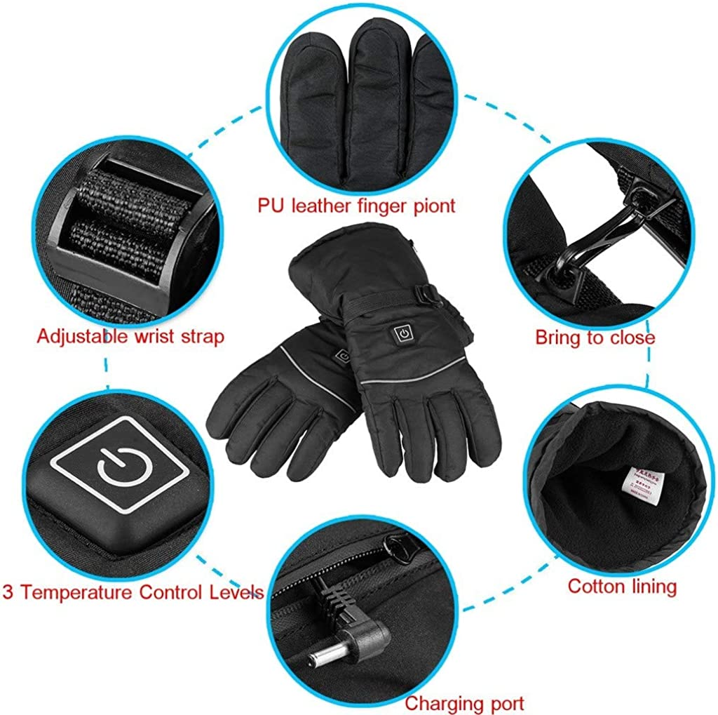 Chirpa Winter Rechargeable Electric Gloves Safe Warm Heated Battery Powered Heat Windproof Men /& Women