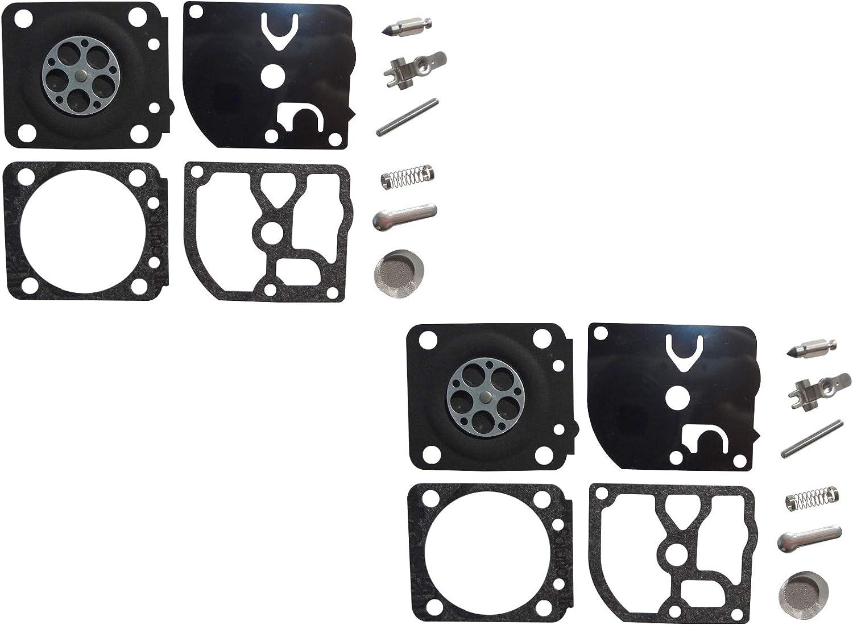 Kit de reparación y reconstrucción del carburador sustituye a ZAMA RB-159 para Motosierra Homelite de 45 CC ZAMA C1M-H65 (Paquete de 2)