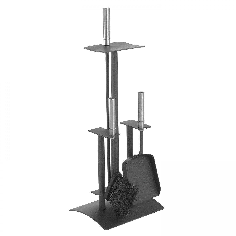 Lienbacher Kaminbesteck (3-teilig), schwarz beschichtet, Griffe Edelstahl